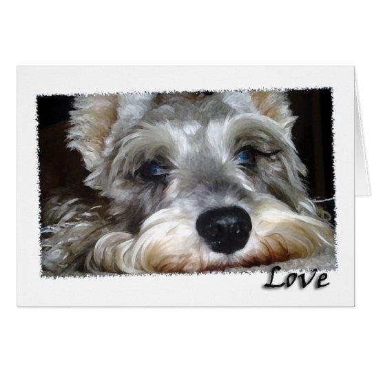 DOG: Mini German Schnauzer w/Love Card