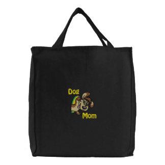 Dog Mom Embroidered Bag