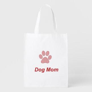 Dog Mom Reusable Grocery Bag
