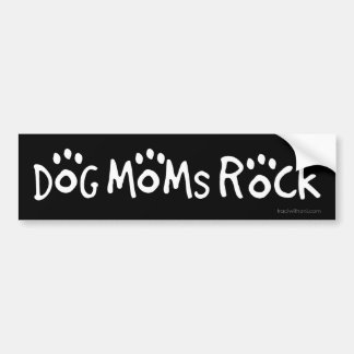 Dog Moms Rock Bumper Sticker