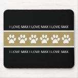 Dog Monogram Mousepads