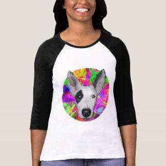 Dog - Mosaic Background T-Shirt