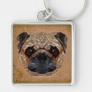 Dog Mosaic Key Ring