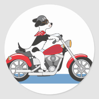 Dog Motorcycle Stickers