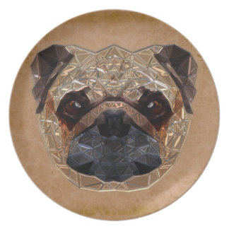 Dog Mozaic Party Plates