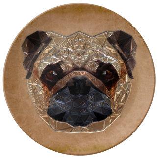 Dog Mozaic Plate