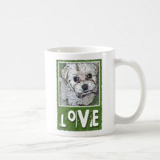 DOG: Multi-Poo Puppy Love Kooky Eyes Coffee Mug