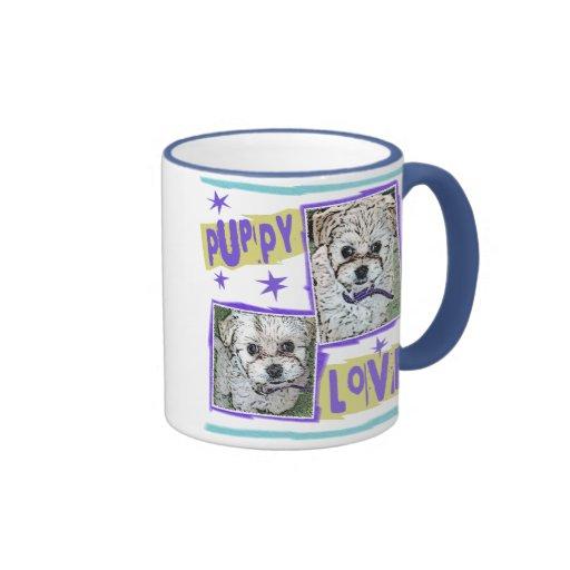 DOG: Multi-Poo Puppy Love Ringer Coffee Mug