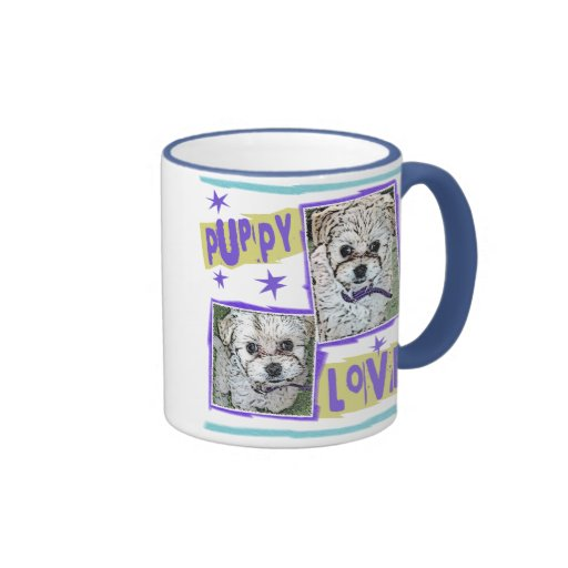 DOG: Multi-Poo Puppy Love Ringer Mug