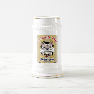 Dog N Bone Beer Stein Logo in Center