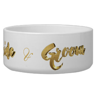 Dog of The Bride and Groom Elegant Gold Typography