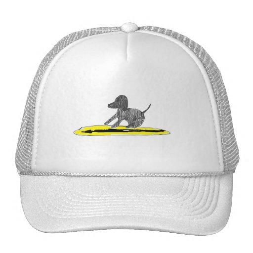 Dog on a Board Trucker Hat