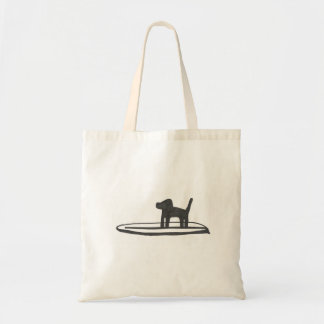 Dog on a Board Canvas Bags