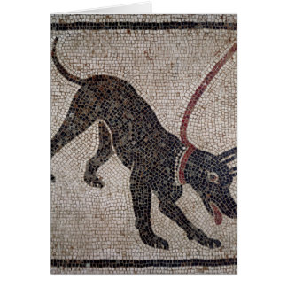 Dog on a leash, from Pompeii Card