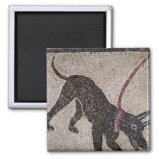 Dog on a leash, from Pompeii Magnet