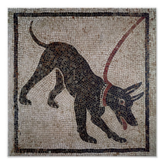 Dog on a leash from Pompeii Posters