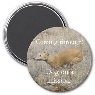 Dog on a Mission 7.5 Cm Round Magnet
