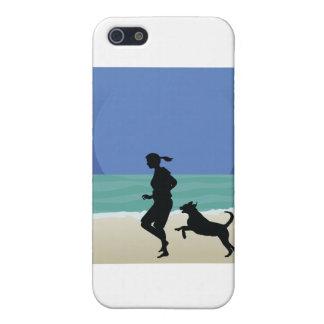 Dog on Beach iPhone 5/5S Cases