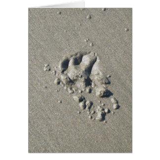 Dog on Beach Loss Card