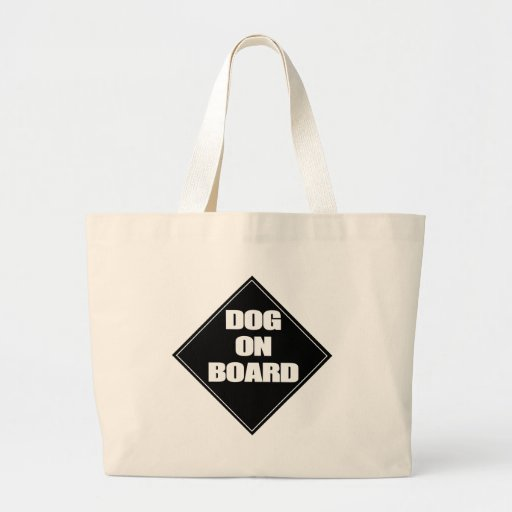 Dog on Board Canvas Bags