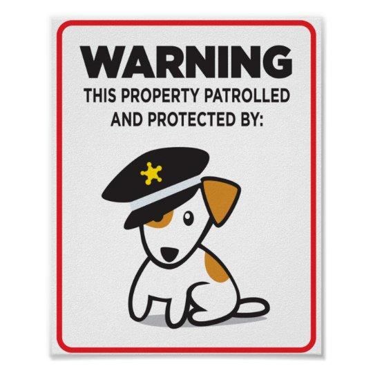 dog on guard sign