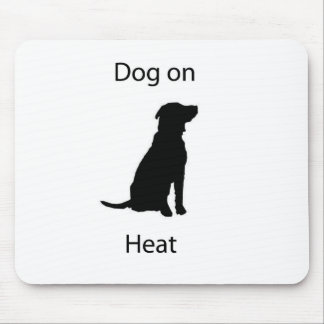 Dog on heat mouse mat