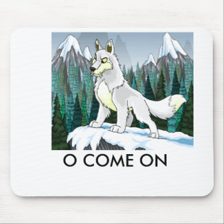 dog on ice, O COME ON Mouse Pad
