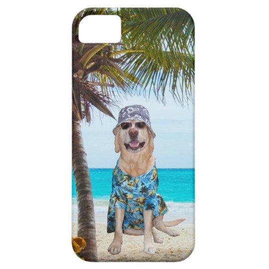 Dog on the Beach in Hawaiian Shirt iPhone