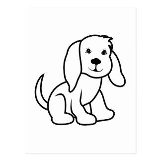 Dog Outline Postcard