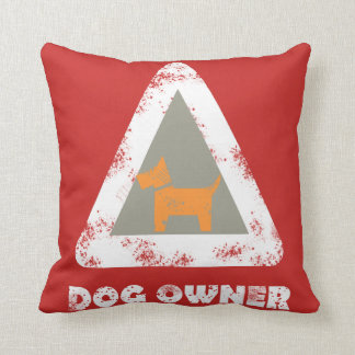 Dog Owner Funky Throw Pillow