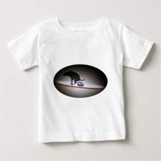 Dog p. over Galaxy Baby T-Shirt