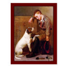 Dog Painting: Best Friends by John Brown Postcard