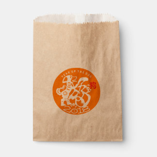Dog Papercut Chinese New Year 2018 O Kraft Favor B Favour Bags