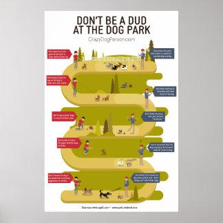 Dog Park Etiquette 101 Infographic Poster