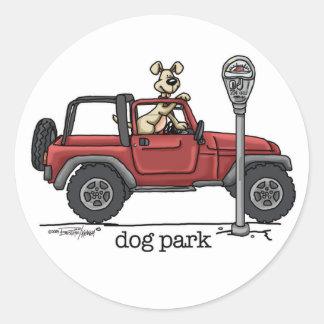 Dog Park Round Sticker