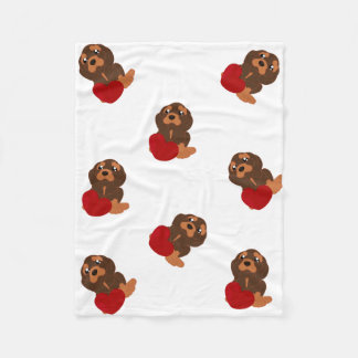 Dog pattern Fleece Blanket.