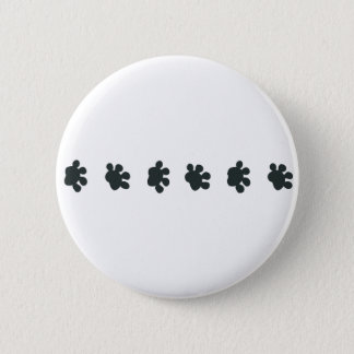 Dog Paw Border 6 Cm Round Badge