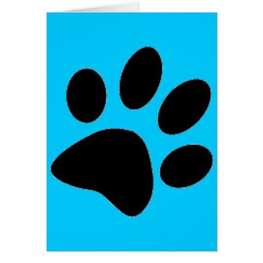 dog paw greeting card