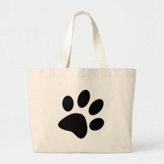 dog paw large tote bag