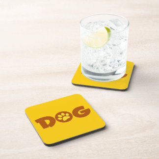 DOG PAW PRINT BROWNS YELLOWS CAUSES ANIMALS PETS DRINK COASTER