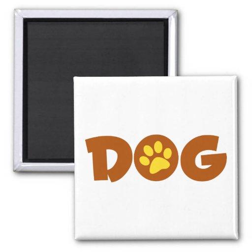 DOG PAW PRINT BROWNS YELLOWS CAUSES ANIMALS PETS FRIDGE MAGNET