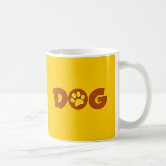 DOG PAW PRINT BROWNS YELLOWS CAUSES ANIMALS PETS COFFEE MUGS