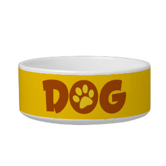 DOG PAW PRINT BROWNS YELLOWS CAUSES ANIMALS PETS CAT WATER BOWLS