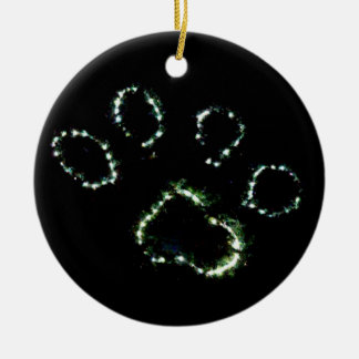 Dog Paw Print Christmas Tree Ornament Decoration