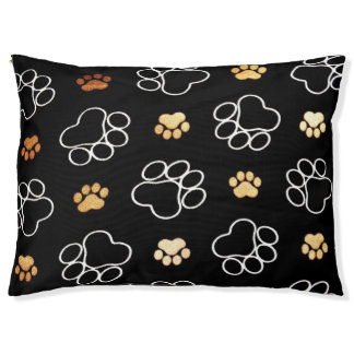 Dog Paw print Design Pet Bed