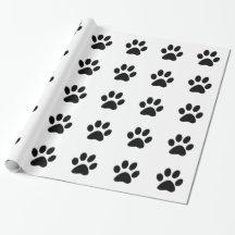 DOG PAW PRINT GIFT WRAP PAPER