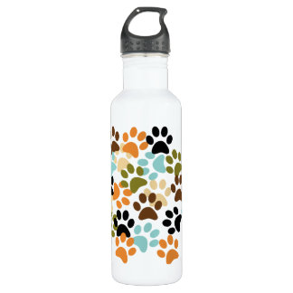 Dog paw print pattern 710 ml water bottle