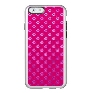Dog Paw Print Purple Hot Pink Background Incipio Feather® Shine iPhone 6 Case