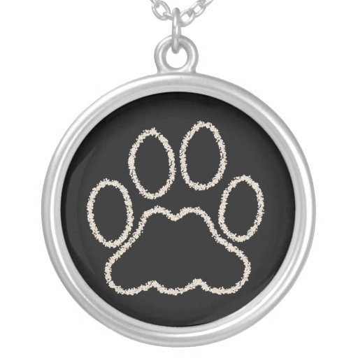 Dog Paw Print Sterling Necklace Jewellery
