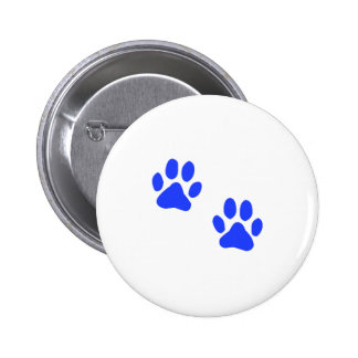 Dog Paw Prints 6 Cm Round Badge